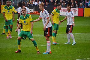 Dan Burn - Burn playing in a match against Norwich City.