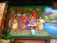 Mural depicting the foundation of Chiautempan