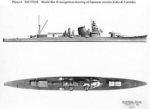Furutaka-class cruiser - US Navy recognition diagrams, World War II