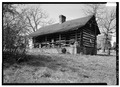 GENERAL VIEW FROM SOUTHEAST - Hawkwood, Log Cabin, Route 15, Gordonsville, Orange County, VA HABS VA,55-GORD.V,9A-3.tif
