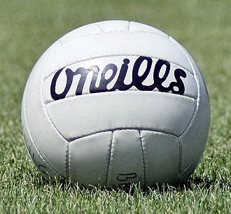 Gaelic football - The ball used for a match, made by Irish company O'Neills