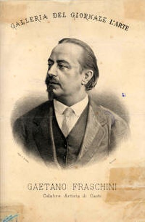 Un ballo in maschera - Tenor Gaetano Fraschini, the first Riccardo
