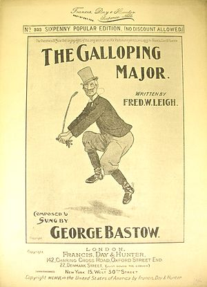 The Galloping Major (song) - Original sheet music from 1906