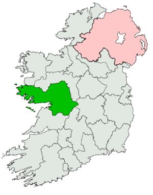 Galway (Dáil Éireann constituency) - Image: Galway Dáil constituency 1921 1937