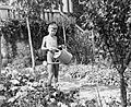 Garden, kid, kid, watering can, summer Fortepan 4645.jpg
