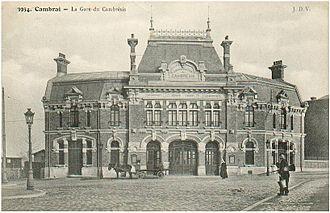 Cambrai - The Gare du Cambrésis, former head of the line of the Chemin de Fer du Cambrésis