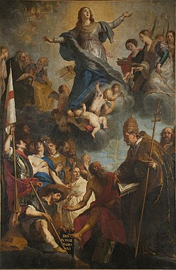 Gaspar the Crayer - Veneration of the Virgin by saints