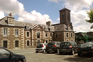 Gavray - The town hall in the center of Gavray