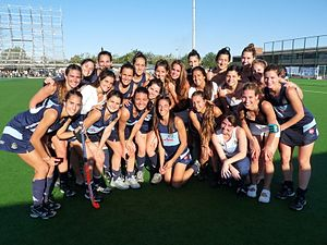 Gimnasia y Esgrima de Buenos Aires - The women's field hockey team, 2010 champions.