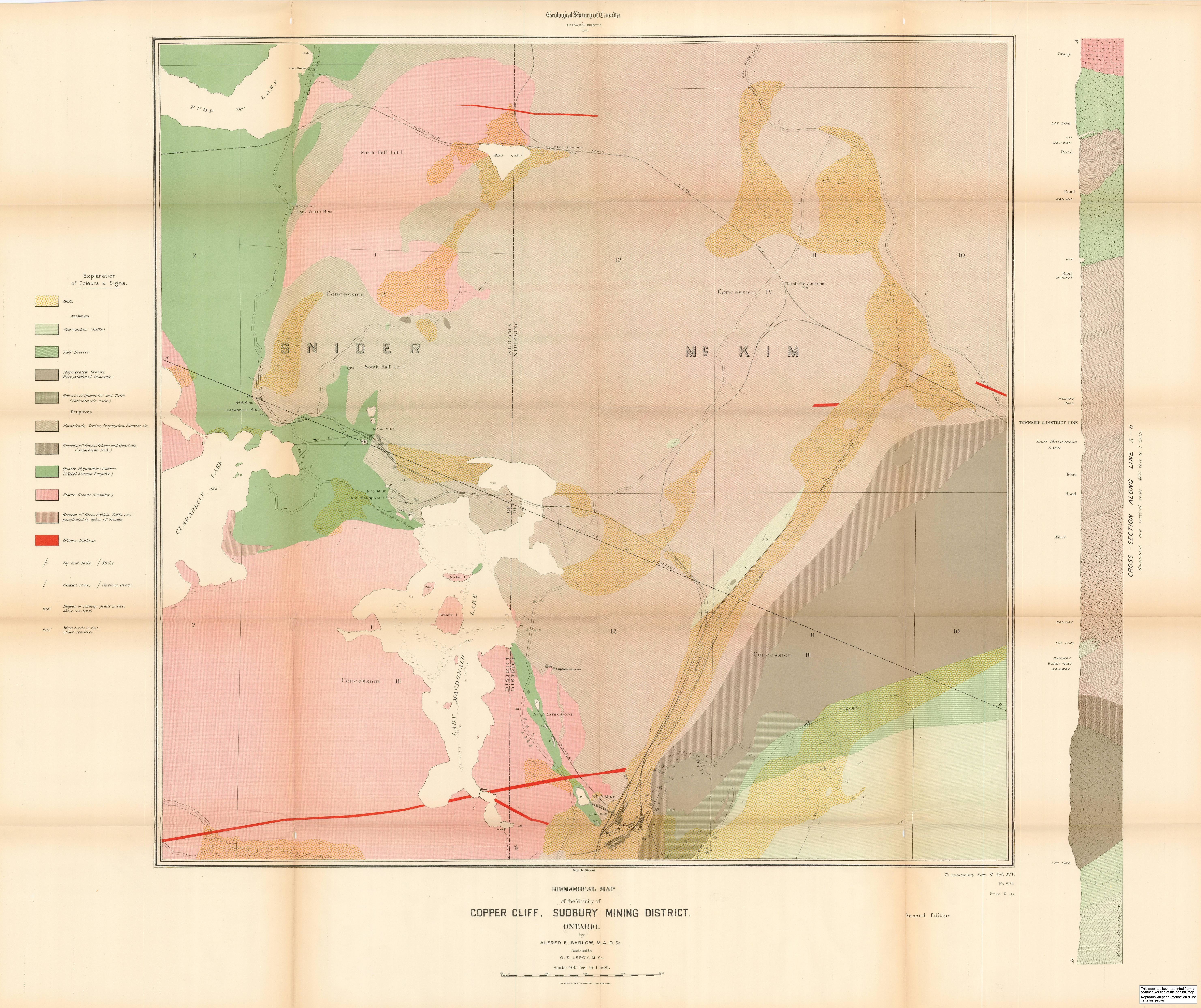 FileGeological map of the vicinity of Copper Cliff Sudbury mining