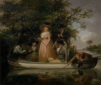 George Morland -  George Morland – A Party Angling