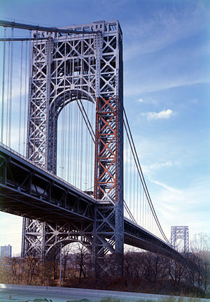 The George Washington Bridge connecting Fort L...
