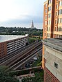 George Washington Masonic National Memorial and Blue Line Metro Rails in Alexandria, VA.jpg
