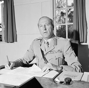 Gerald Lathbury - Sir Gerald William Lathbury, seen here as Commander-in-Chief (C-in-C), East Africa, in May 1955.