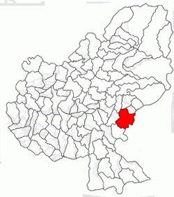 Location of Ghindari