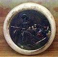 Giappone, periodo edo, netsuke (fermaglio per inroo), xix secolo, 072 musicista e samurai.jpg