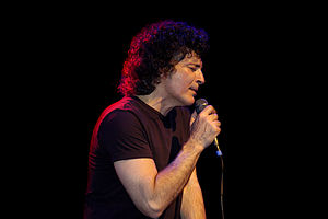 Canadian singer Gino Vanelli performing in Ams...