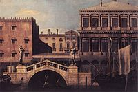 Giovanni Antonio Canal, il Canaletto - Capriccio - The Ponte della Pescaria and Buildings on the Quay - WGA03927.jpg
