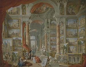 Modern Rome - Image: Giovanni Paolo Panini – Modern Rome
