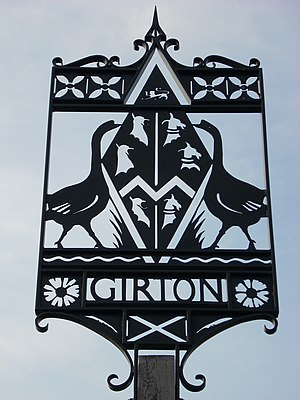 Girton, Cambridgeshire - The village sign