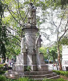 Giuseppe Verdi Monument sculpture by Pasquale Civiletti