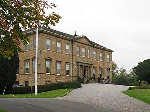 Glasgow Golf Club - Georgian neoclassical style club house of Glasgow Golf Club, built 1805.