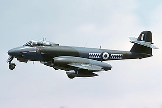 Gloster Meteor - Gloster Meteor F8, Royal Air Force, seen arriving for RIAT 86