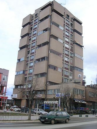 Gjilan - Communist-era apartment complex in Gjilan.