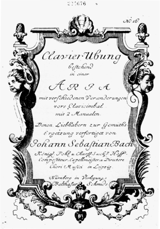 Aria - Title page of the Goldberg Variations (first edition, 1741)