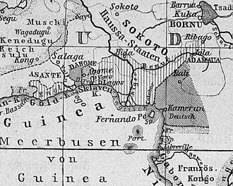Adamawa Emirate - Image: Golf von Guinea um 1890