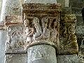 Gournay-en-Bray (76), collégiale St-Hildevert, chœur, 2e grande arcade du sud, chapiteau côté est 1.jpg