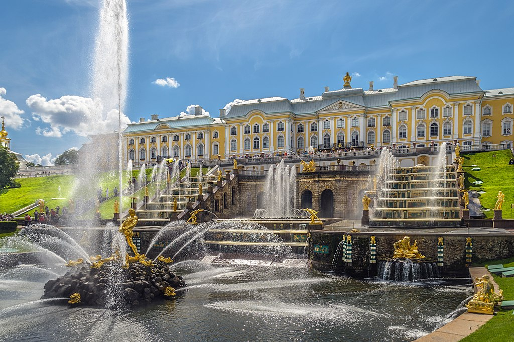 The last week of fountains in Peterhof