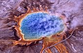Grand Prismatic Spring à Yellowstone.