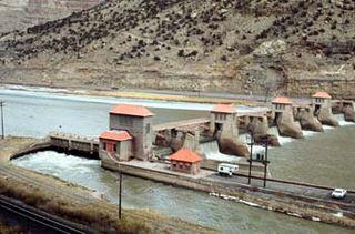 Grand Valley Diversion Dam dam in Mesa County, near Palisade, Colorado, United States