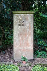 Grave of David Hilbert at Stadtfriedhof Göttingen 2017.jpg