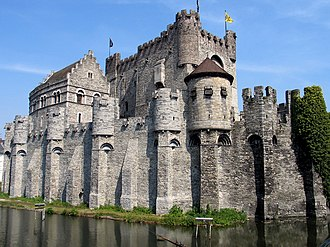 East Flanders - The Gravensteen in Ghent, the provincial capital