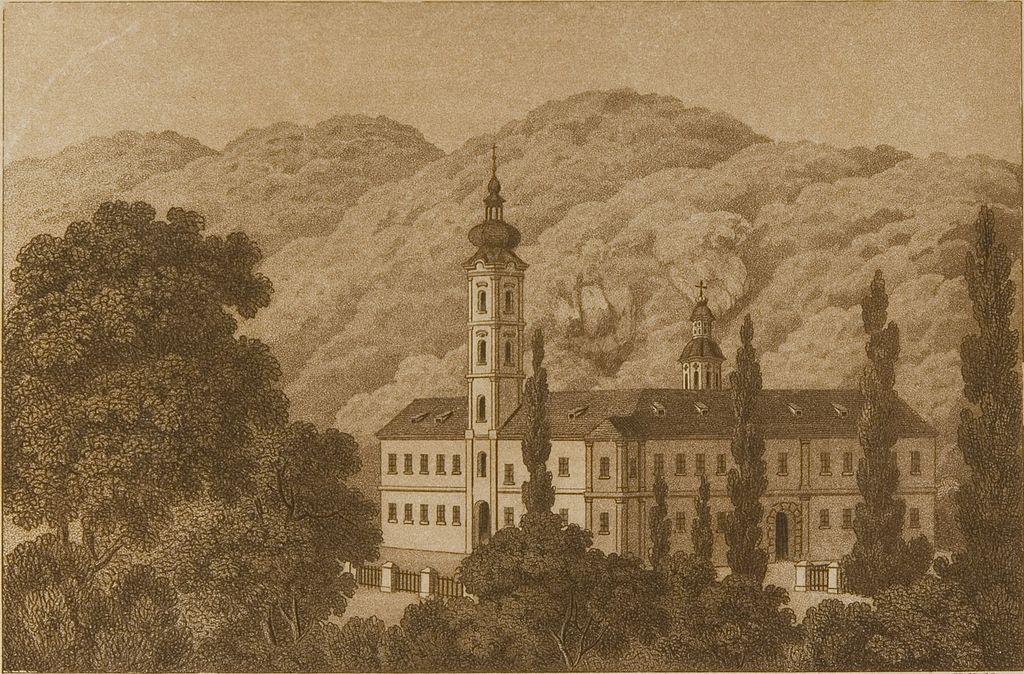 Manastiri Fruške Gore 1024px-Gravura_manastira_Be%C5%A1enovo