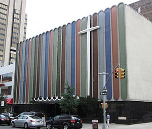 Mother church - The Greater Refuge Temple in Harlem, New York City, the mother church of the Pentecostal Church of Our Lord Jesus Christ of the Apostolic Faith