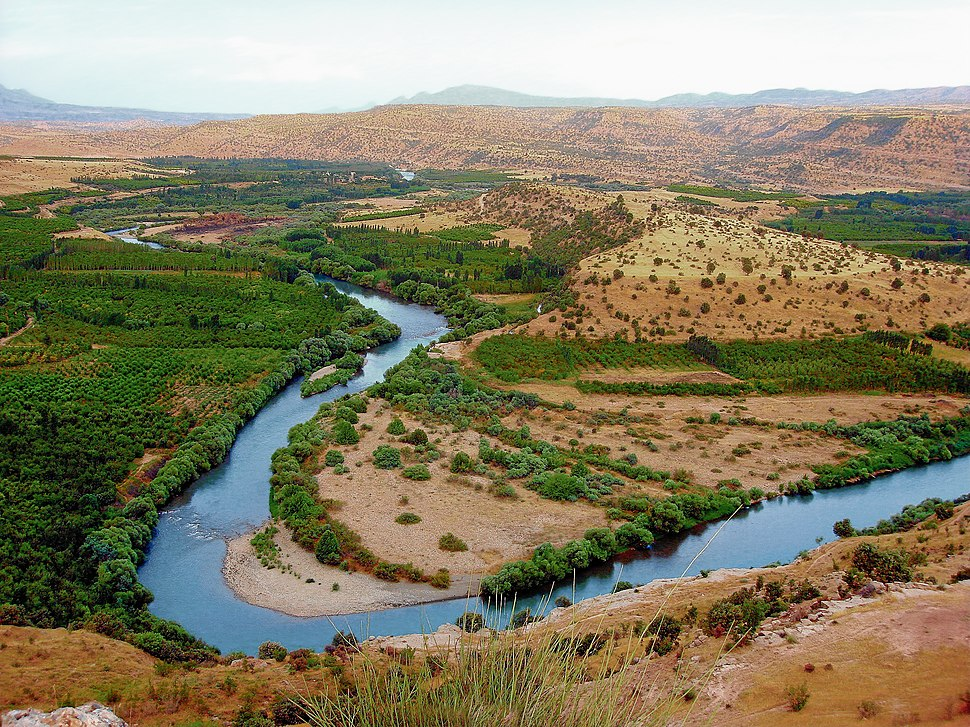 Greater Zab River near Erbil Iraqi Kurdistan