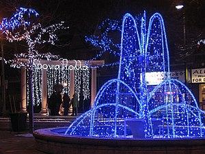 Greektown, Toronto - Image: Greektown at Christmas