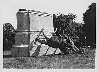 Major General Nathanael Greene (Brown) - Greene statue fallen in 1930.