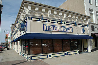 Groundhog Day (film) - Tip Top Bistro, established at the site of the fictional Tip Top Cafe in Woodstock