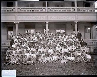 Saint Francis School - Image: Group, Saint Francis School, 1899, photograph by Brother Bertram
