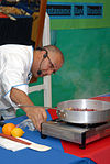 Guest Chef Andre Halson Prepares a Creme Anglaise During a Food Demonstration at Naval Station Guantanamo Bay DVIDS228148.jpg