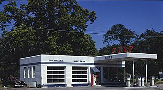 Gulf Oil - Gulf gas station, Kingsland,Georgia, 1979