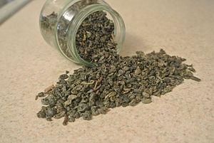 Gunpowder tea - Gunpowder Tea ready for the process of steeping