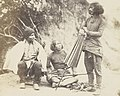 Gurung in the 1860s detail, from- Drie Gurung mannen uit Nepal Goorung group. Military tribe. Nipal (titel op object), RP-F-2001-7-1122B-13 (cropped).jpg