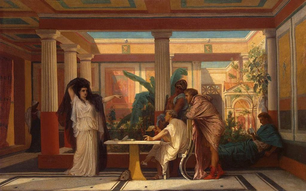 Gustave Boulanger - Theatrical Rehearsal in the House of an Ancient Rome Poet - WGA2930