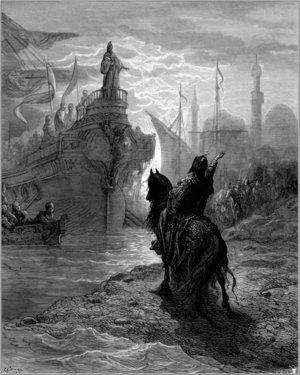 Alexios V Doukas - Alexios V negotiating with Doge Enrico Dandalo, by Gustave Doré