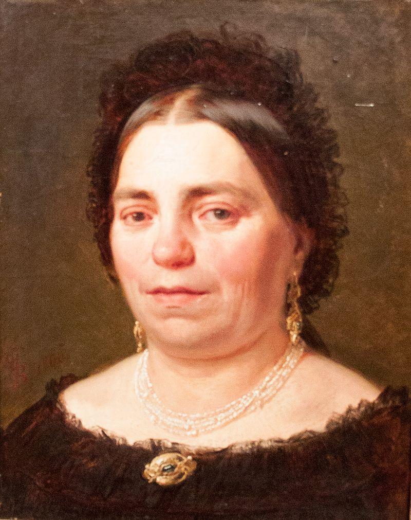 Дьюла Бенчур - портрет госпожи Вильмосне Бенчур, матери покойного. artist.jpg